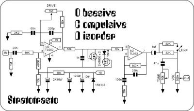 Pedal OCD circuitos : Electrónica DIY | Guitarristas.info on lovepedal eternity schematic, menatone red snapper schematic, dunlop wah schematic, guitar schematic, pignose schematic, reverb pedal schematic, rockbox boiling point schematic, parametric eq schematic, tube screamer schematic, volume pedal schematic, ac booster schematic, mad professor deep blue delay schematic, mxr micro amp schematic, boss dd3 schematic, proco rat schematic, rc booster schematic, boss tu-2 schematic, klon centaur schematic, timmy schematic, univibe schematic,