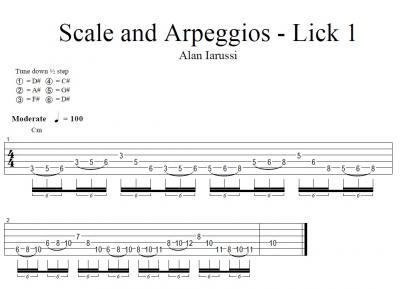 Scale and arpeggios - Lick 1.jpg