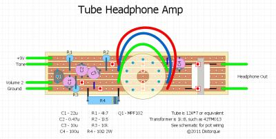 12AX7 Headphone Amp layout.png