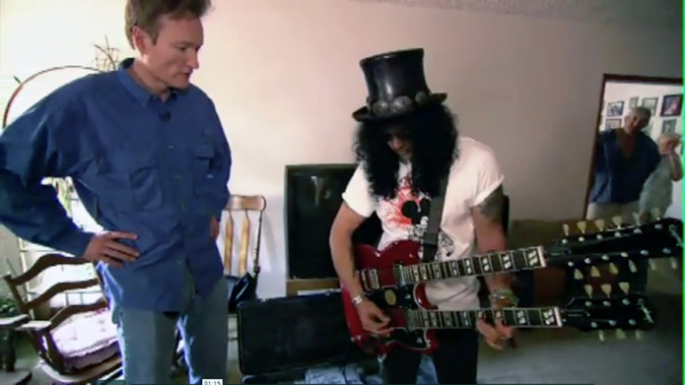 Slash y Conan O' Brien