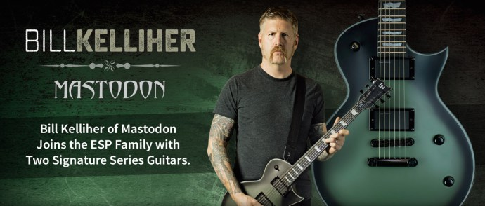 bill kelliher de mastodon firma con esp y presenta dos modelos signature. Black Bedroom Furniture Sets. Home Design Ideas