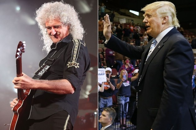 Brian May y Donald Trump