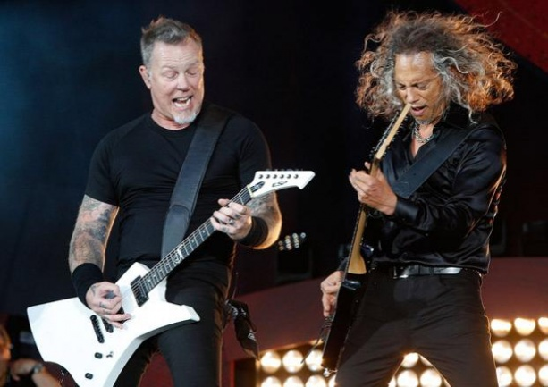 James Hetfield and Kirk Hammett