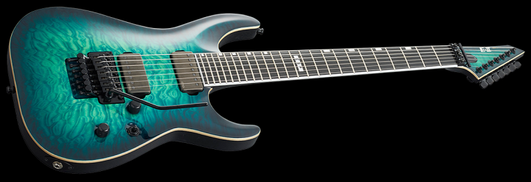 Horizon 7 String Black Turquoise Burst