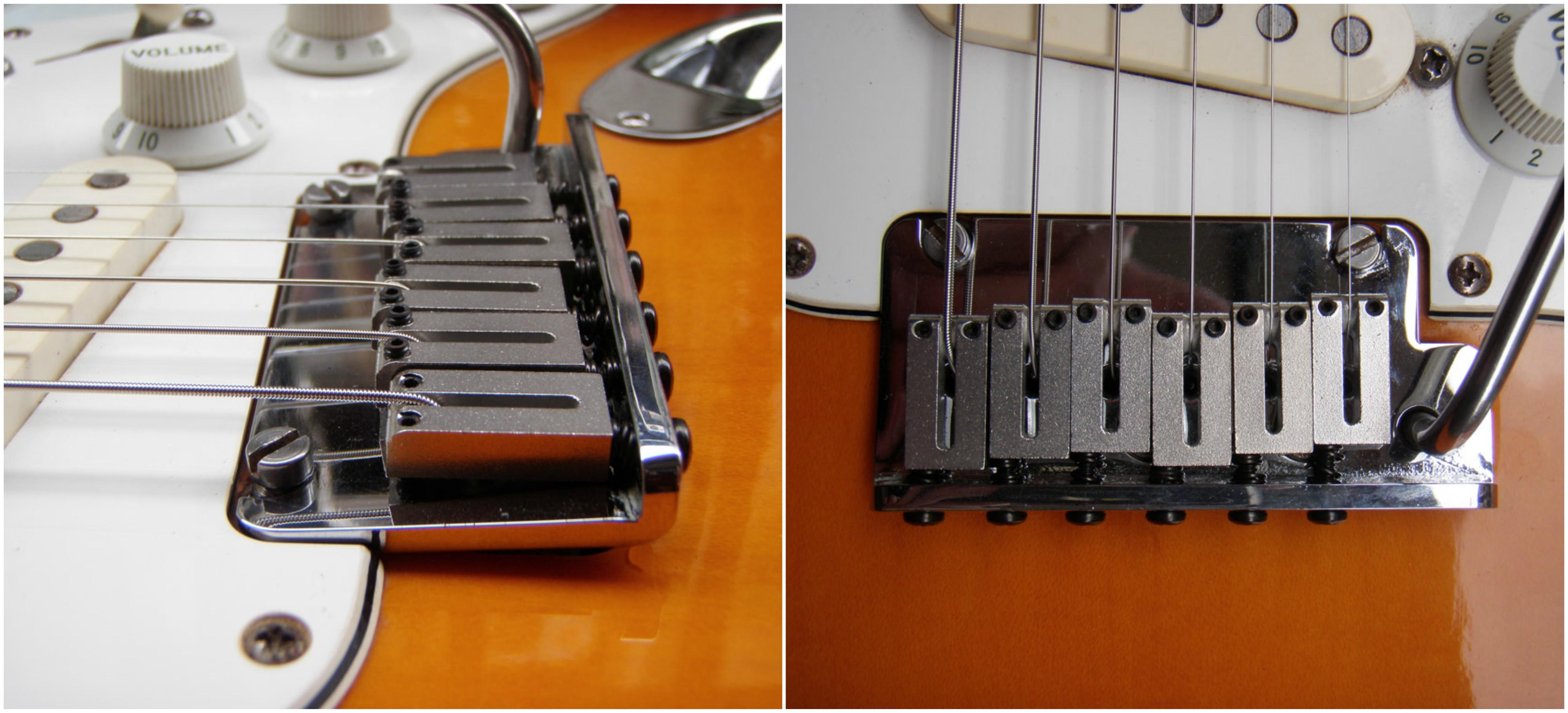 Puente de tr/émolo para guitarra puente de vibrato de bloqueo /único Plata cordal para guitarra ST sistema de tr/émolo con rodillo