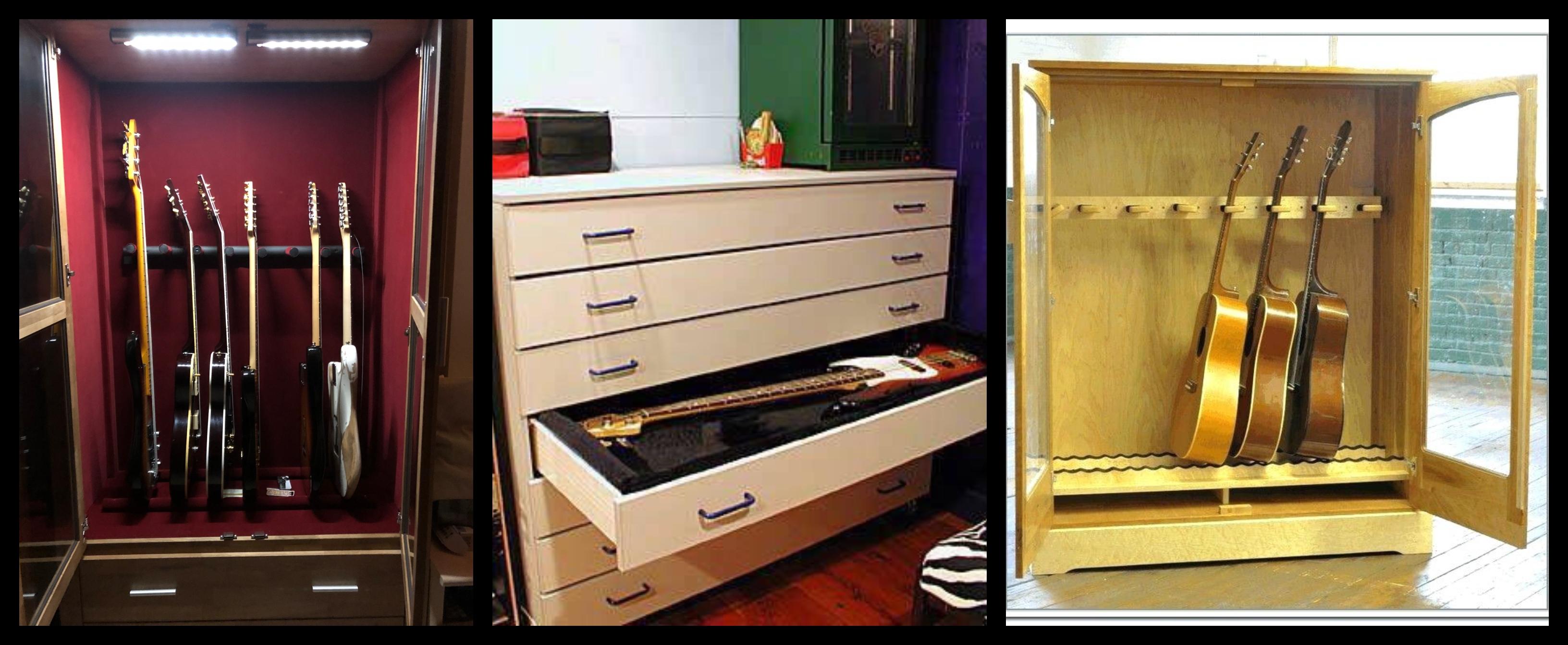 5 soluciones de almacenamiento para tus guitarras - Muebles para almacenar ...