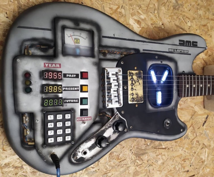 Martper Back To The Future Guitar Mustang cuerpo