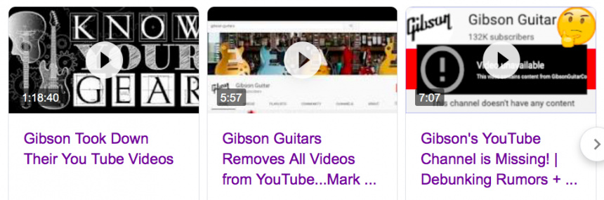 Gibson videos youtubers