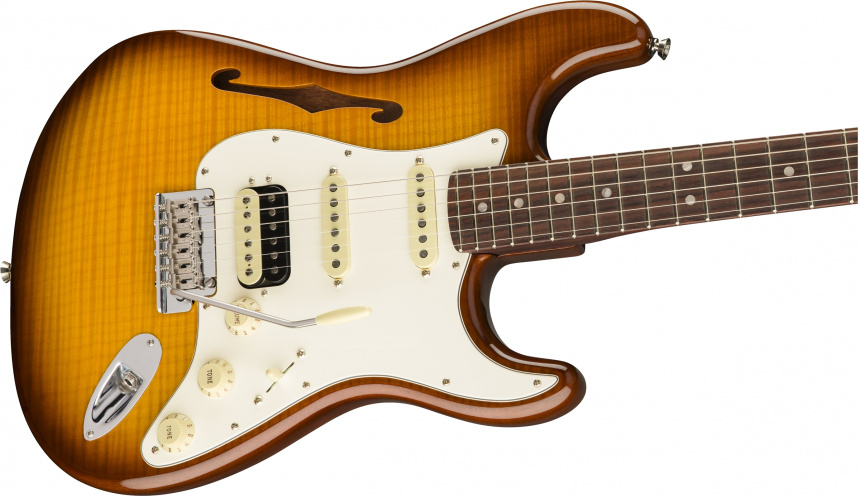 Flame Maple Top Stratocaster HSS Thinline body