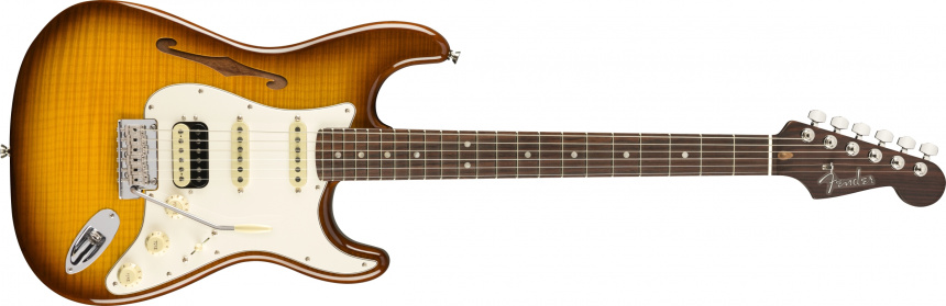 Flame Maple Top Stratocaster HSS Thinline