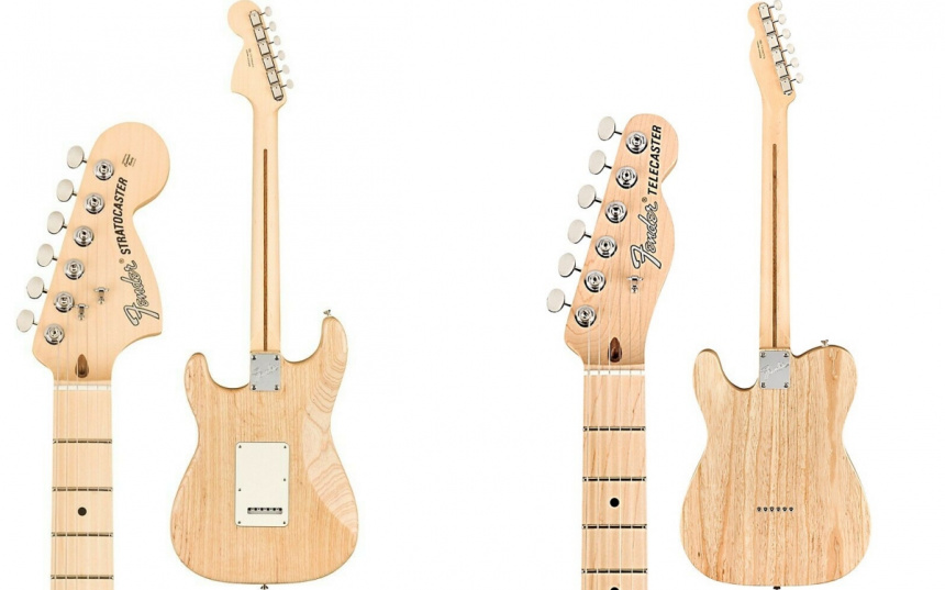 Raw Ash Tele Strat back