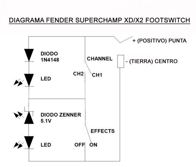 Haciendo un Footswitch para el Fender Superchamp XD/X2 : El taller on