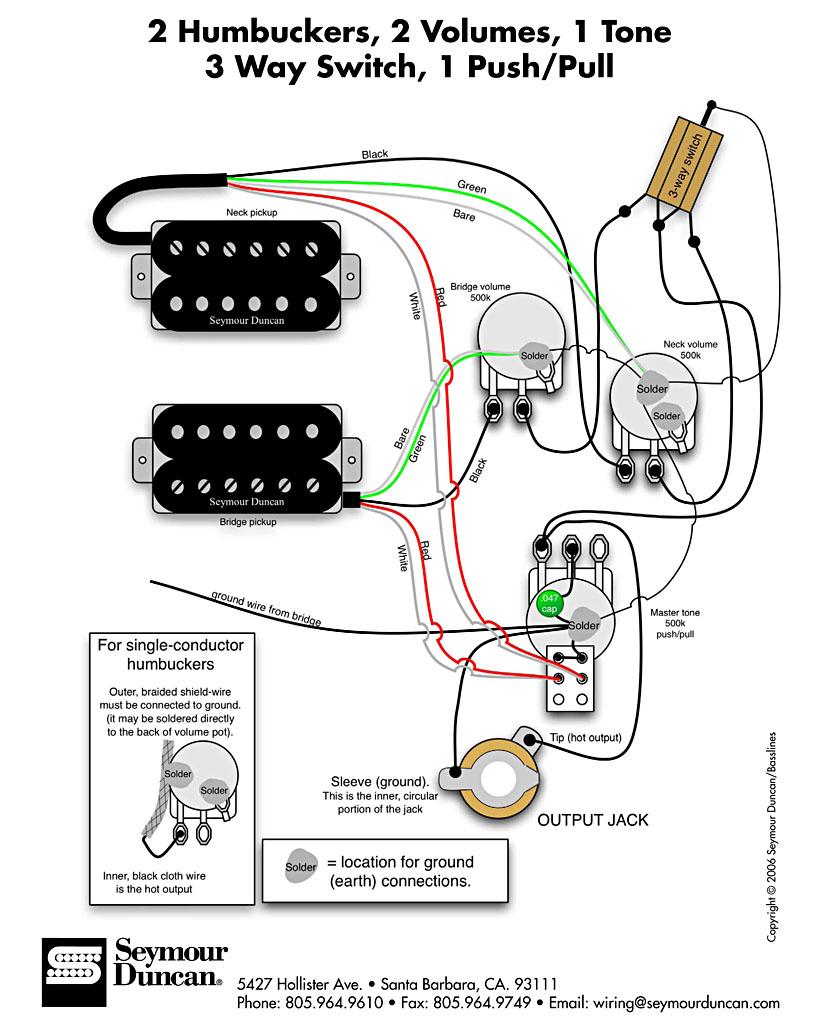 diagrama seymour duncan    guitarras el u00e9ctricas  ac u00fasticas  cl u00e1sicas y bajos