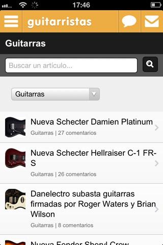 Web móvil Guitarristas