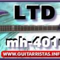 Review guitarra ltd mh-401nt see-thru purple