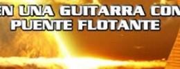 Cambiando cuerdas en una guitarra de puente flotante.