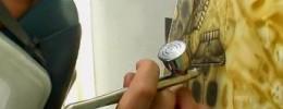 Skelluitar, impresionante trabajo de aerografía en una guitarra
