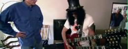 Slash y Conan O' Brien en busca de guitarras de segunda mano
