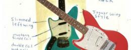 A subasta una Fender diseñada por Kurt Cobain junto a bocetos del propio líder de Nirvana