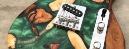 DriftWood Works, guitarras hechas con resina, y madera flotante recuperada de un río