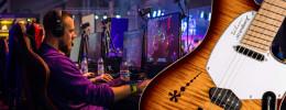 Tocando la guitarra en videojuegos y plataformas virtuales