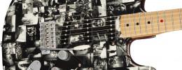 Fender Andy Summers Monochrome Strat, una exposición fotográfica en una guitarra
