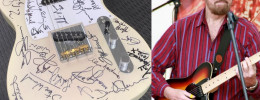 Paul McCartney y Eric Clapton entre otros firman una guitarra para ayudar a Jerry Donahue