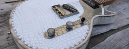 Paoletti Richard Fortus, madera de castaño y cuero blanco para el guitarrista de Guns N' Roses