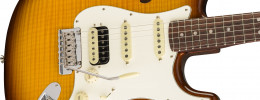 La Flame Maple Top Stratocaster HSS Thinline clausura la serie Rarities de Fender
