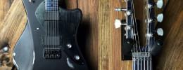 Balaguer Espadanator, una guitarra con cuerpo y mástil de aluminio y acabado relic