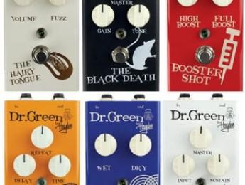Nuevos pedales de efectos de Dr. Green
