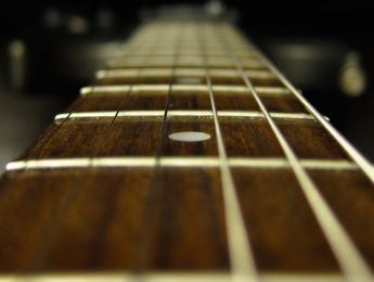 La escala de la guitarra