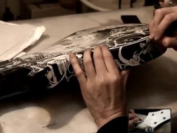 Proceso de pintado de una guitarra PRS Custom de Mark Tremonti