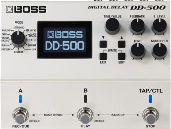 Boss ha anunciado los nuevos pedales DD-500 de delay digital y RV-6 de reverb