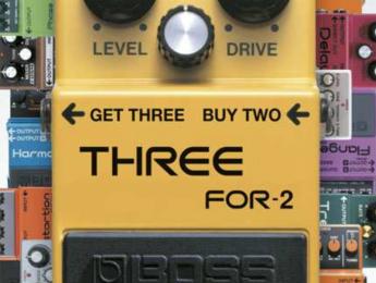 Boss te regala un pedal por la compra de otros dos