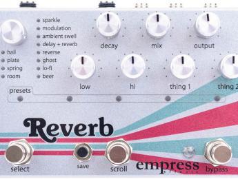 Reverb, el nuevo pedal de Empress Effects disponible en Mayo