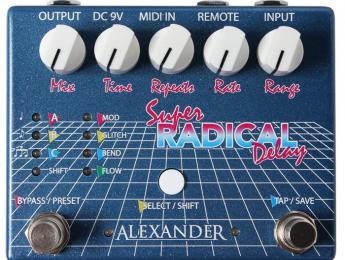 Alexander Pedals presenta los efectos Super Radical Delay y Oblivion Vintage Delay