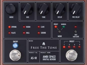 Ambi Space, una nueva reverb digital de Free The Tone