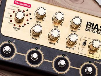 Desvelado el aspecto que tendrá el pedal Bias Distortion, de Positive Grid