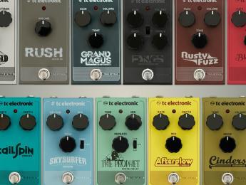 TC Electronic presenta 13 nuevos pedales de efecto