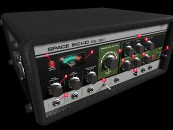 Viaje 3D por dentro de un Roland Space Echo