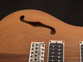 """PRS CE 24 y S2 Vela """"Reclaimed"""", dos guitarras semisólidas hechas con maderas exóticas"""