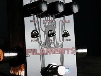 Keeley Filaments, un pedal de distorsión de alta ganancia