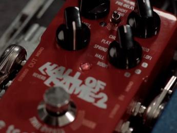 Hall of fame 2, un pedal de reverb con control de expresión en el footswitch
