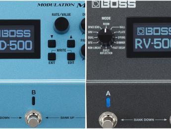 Boss MD-500 y RV-500, dos nuevos multiefectos de modulación y reverberación