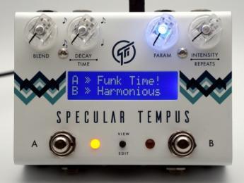 Specular Tempus de GFi System, un pedal de delay y reverb programable