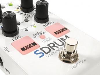Digitech Sdrum, una caja de ritmos que se guía por tu rasgueo