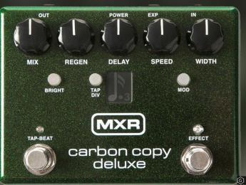 Carbon Copy Deluxe, el pedal clásico de delay de MXR, ahora con más funciones