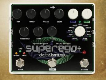 Electro-Harmonix SuperEgo+, pedal sintetizador y multiefectos todo en uno