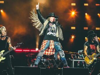 El equipo de Guns N' Roses en 2017